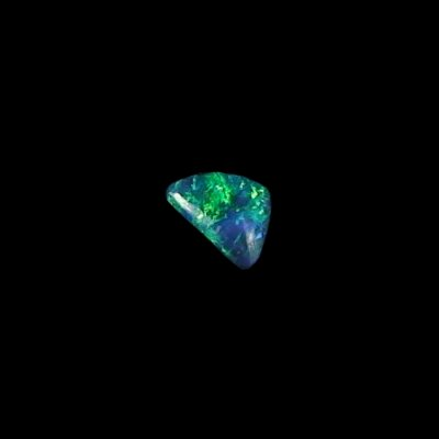 0.52 ct Black Opal gemstone 7.03 x 5.01 x 2.45 mm, pic1