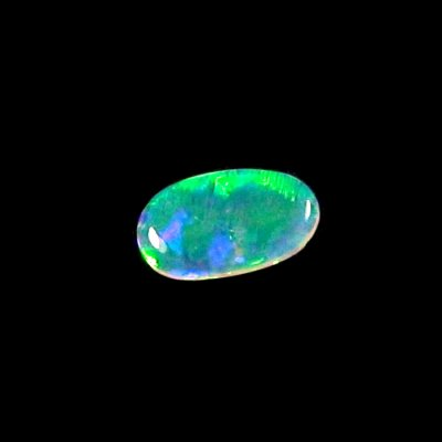 0.92 ct Black Crystal Opal Edelstein 11,36 x 6,66 x 1,82 mm, Bild3