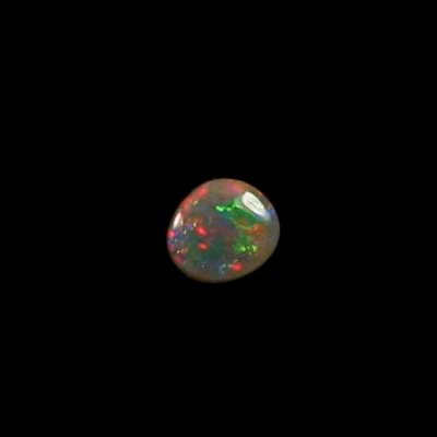 0,70 ct Black Crystal Opal Edelstein 7,10 x 6,35 x 2,68 mm, Bild 1