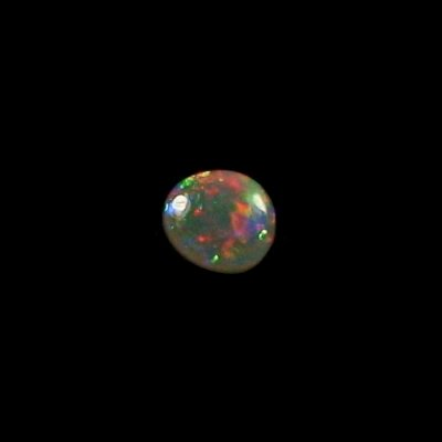 0,70 ct Black Crystal Opal Edelstein 7,10 x 6,35 x 2,68 mm, Bild 2