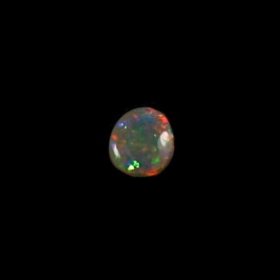 0,70 ct Black Crystal Opal Edelstein 7,10 x 6,35 x 2,68 mm, Bild 3