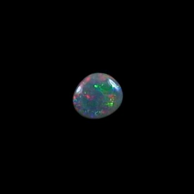 0,70 ct Black Crystal Opal Edelstein 7,10 x 6,35 x 2,68 mm, Bild 6