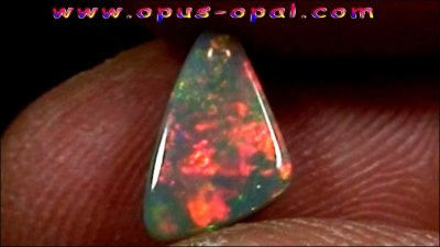 1.22 ct Black Opal gemstone 10.76 x 6.54 x 3.04 mm, pic1