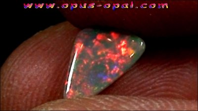1.22 ct Black Opal gemstone 10.76 x 6.54 x 3.04 mm, pic5