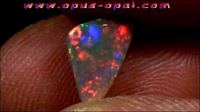 1.22 ct Black Opal gemstone 10.76 x 6.54 x 3.04 mm, pic6