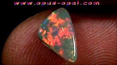 1.22 ct Black Opal gemstone 10.76 x 6.54 x 3.04 mm, pic7